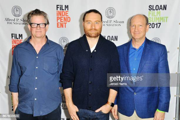 Alex McDowell Chris Milk and Vice President and Director of Programs at the Alfred P Sloan Foundation Doron Weber attend Sloan Film Summit 2017 Day 2...