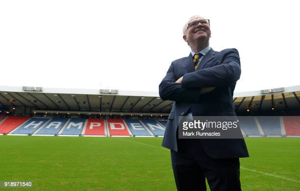 Alex McLeish is unveiled by the SFA as the new Scotland National Team manager at Hampden Park on February 16 2018 in Glasgow Scotland