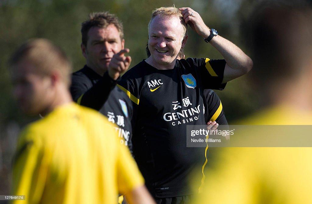 Aston Villa Training : News Photo