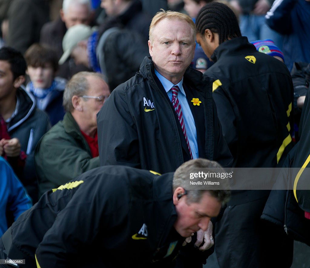 Alex McLeish manager of Aston Villa during the Barclays Premier League match between Blackburn Rovers and Aston Villa at Ewood Park on March 3, 2012 in Blackburn, England.