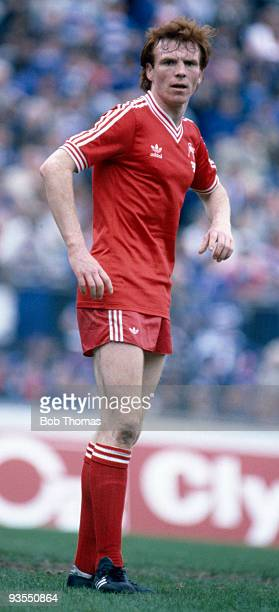 Alex McLeish of Aberdeen during the Scottish FA Cup Final against Glasgow Rangers held at Hampden Park Glasgow on 22nd May 1982 Aberdeen won 41 after...