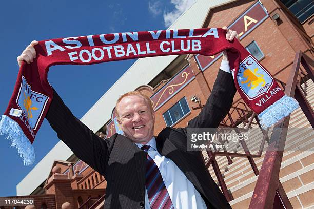 Alex McLeish the new manager of Aston Villa poses for a portrait at Villa Park on June 20 2011 in Birmingham England