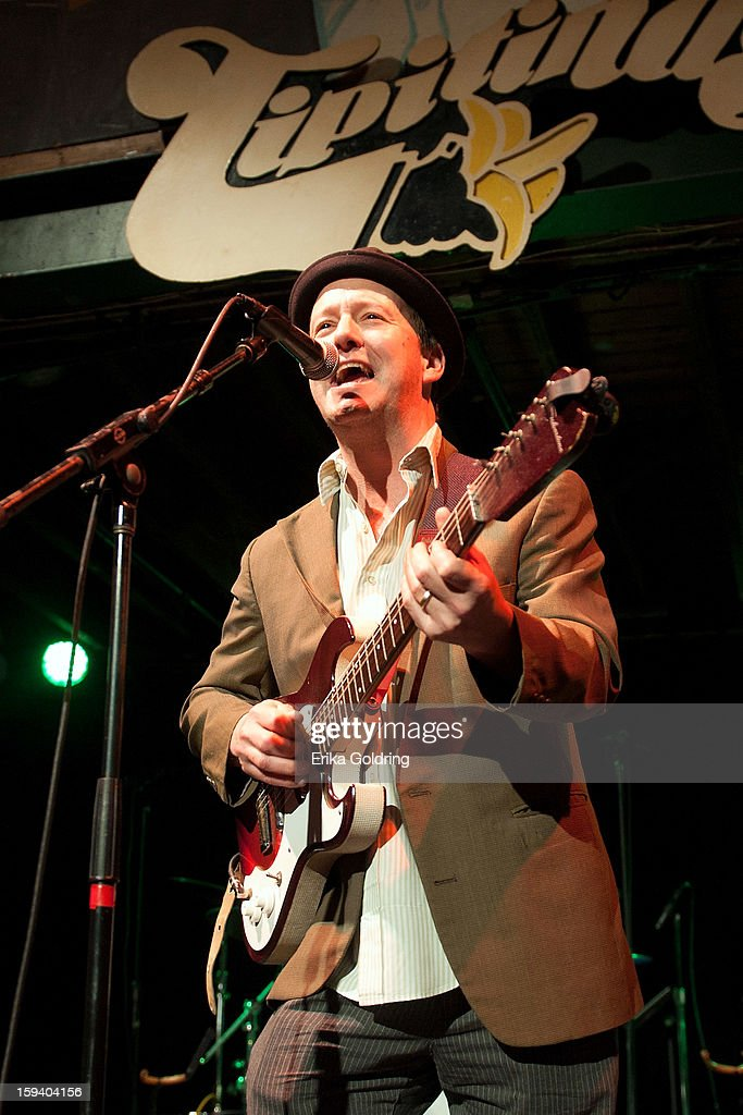 Alex McMurray performs during 'My Lil' Darlin': An HBO Treme All Star Revue' at Tipitina's on January 12, 2013 in New Orleans, Louisiana.