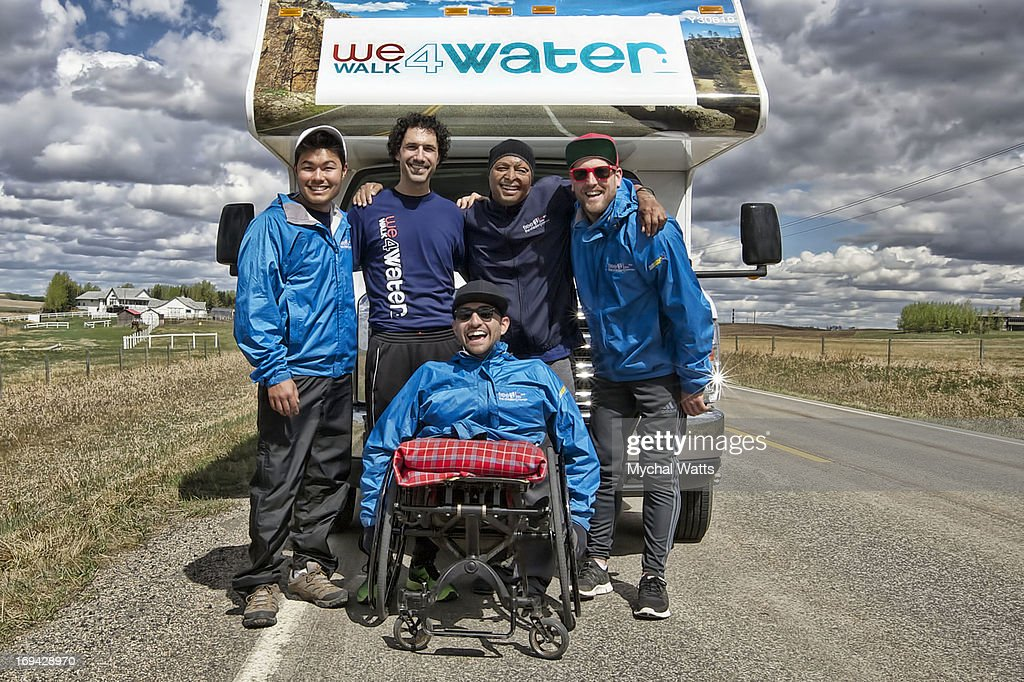JR Martinez And Ethan Zohn Join Spencer West On Walk To Benefit Free The Children's Water Initiative