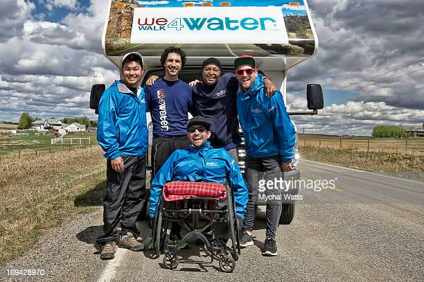 Alex Meers Ethan Zohn JR Martinez David Johnson and Spencer West take part in We Walk 4 Water to benefit Free The Children's water initiative on May...