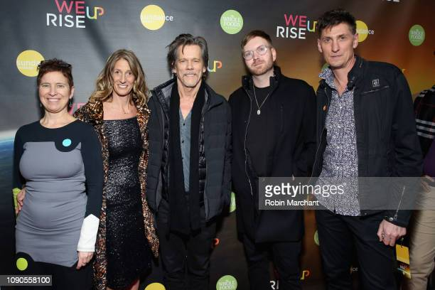 Alex Melnyk Kate Maloney Kevin Bacon a guest and Michael Shaun Conaway attend the WeRiseUP Launch Event With Kevin Bacon during the 2019 Sundance...