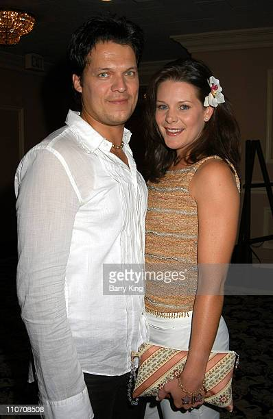 Alex Mendosa wife Cari Shayne during 2003 ABC's Port Charles Fan Day at Sportsmen's Lodge in Studio City California United States