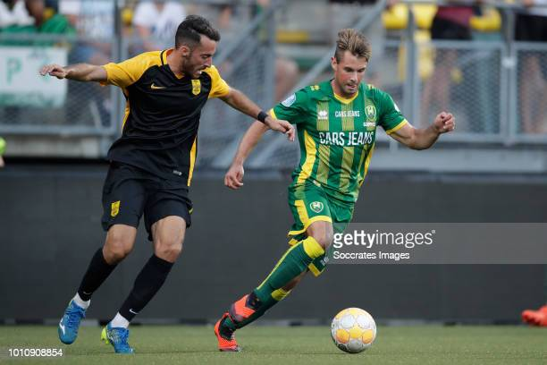 Alex Menendez of Aris Thessaloniki Thijmen Goppel of ADO Den Haag during the Club Friendly match between ADO Den Haag v Aris Saloniki at the Cars...