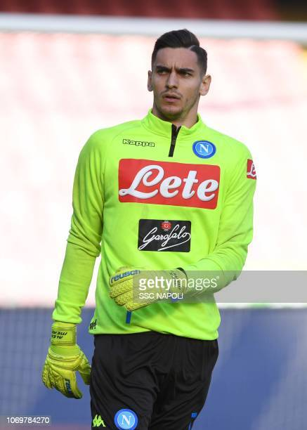 Alex Meret ahead of the Serie A match between SSC Napoli and Frosinone Calcio at Stadio San Paolo on December 8 2018 in Naples Italy