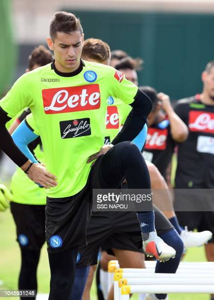 Alex Meret during an SSC Napoli Training Session on October 5 2018 in Naples Italy