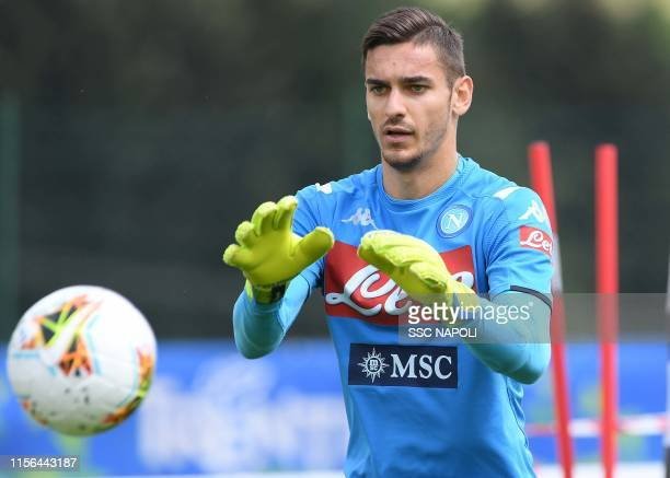 Alex Meret during SSC Napoli PreSeason Training Camp on July 19 2019 in Dimaro Italy