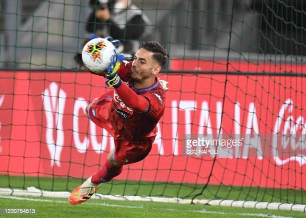 Alex Meret during the Coppa Italia Final match between Juventus and SSC Napoli winner at Olimpico Stadium on June 17, 2020 in Rome, Italy.