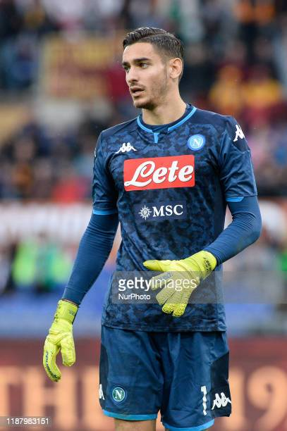 Alex Meret during the Italian Serie A football match between AS Roma and SSC Napoli at the Olympic Stadium in Rome on november 2 2019