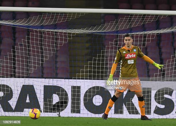 Alex Meret during the Serie A match between SSC Napoli and UC Sampdoria at Stadio San Paolo on February 2 2019 in Naples Italy