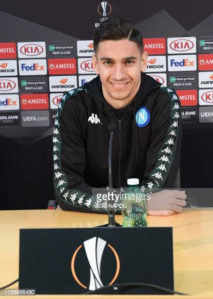 Alex Meret during the SSC Napoli Training Session/ Press Conference on February 20 2019 in Naples Italy