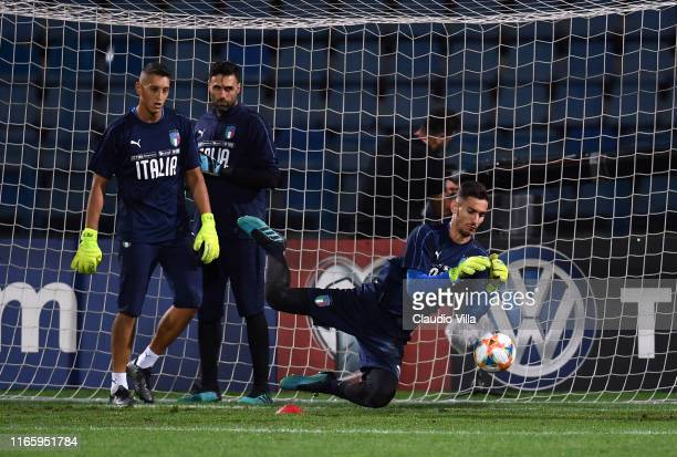 Alex Meret of Italy in action during Italy training session on September 4 2019 in Yerevan Armenia