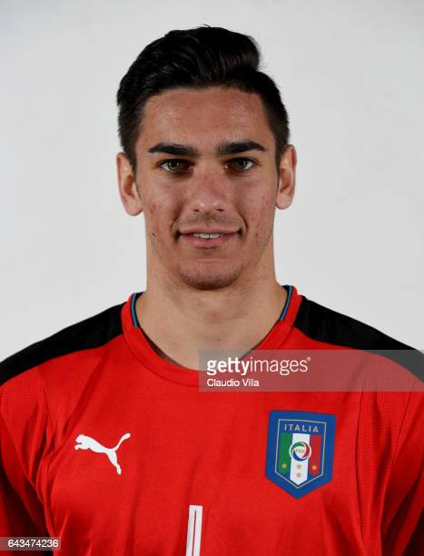 Alex Meret of Italy poses during the official portrait session at Coverciano on February 21 2017 in Florence Italy