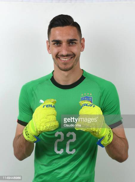 Alex Meret of Italy poses during the official portrait session at Casteldebole Training Center on June 12 2019 in Bologna Italy