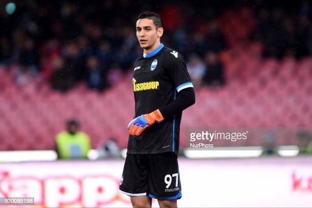 Alex Meret of Spal during the Serie A TIM match between SSC Napoli and Spal at Stadio San Paolo Naples Italy on 18 February 2018