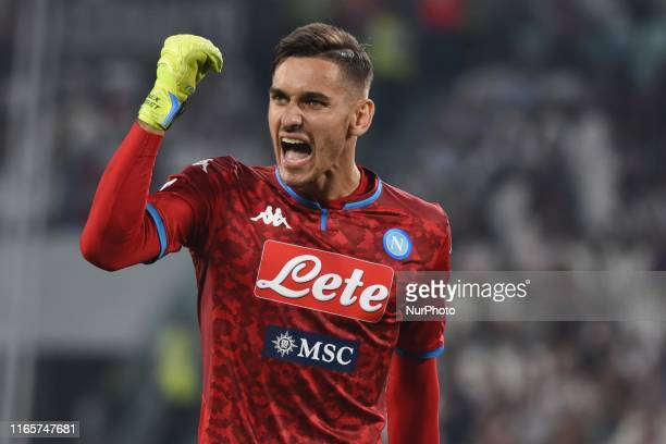 Alex Meret of SSC Napoli during the Italian Serie A 2019/2020 match between Juventus FC and SSC Napoli at Allianz Stadium on August 31 2019 in Turin...