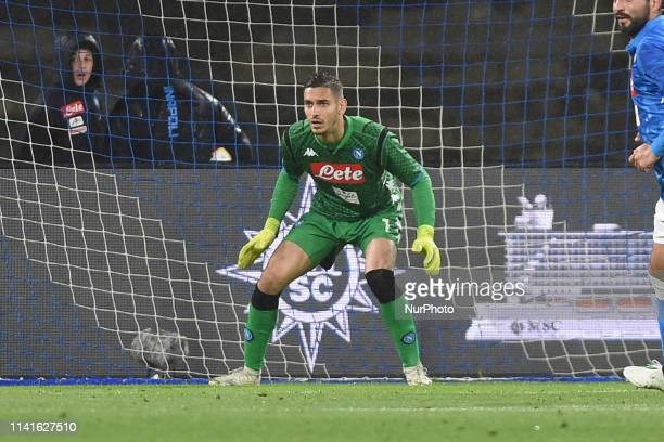 Alex Meret of SSC Napoli during the Serie A TIM between SSC Napoli and Cagliari at Stadio San Paolo Naples Italy on 5 May 2019