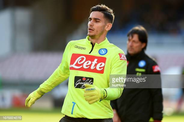 Alex Meret of SSC Napoli during the Serie A TIM match between SSC Napoli and Frosinone Calcio at Stadio San Paolo Naples Italy on 8 December 2018