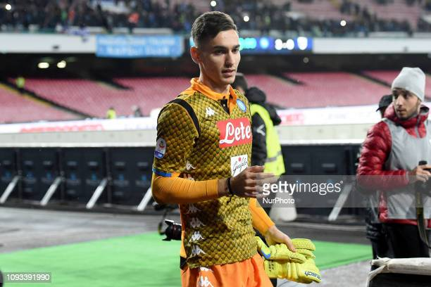 Alex Meret of SSC Napoli during the Serie A TIM match between SSC Napoli and UC Sampdoria at Stadio San Paolo Naples Italy on 2 February 2019