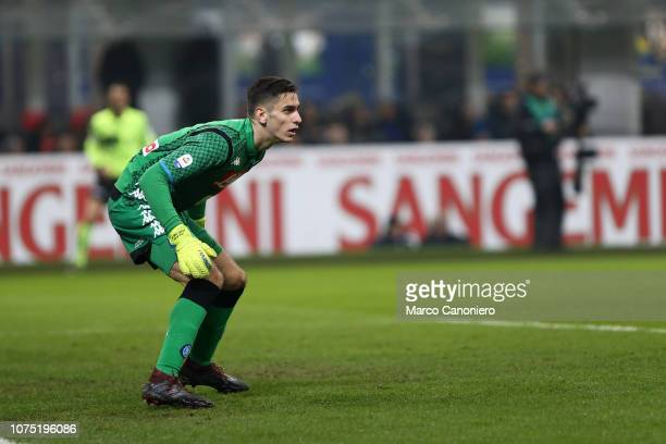 Alex Meret of Ssc Napoli in action during the Serie A football match between FC Internazionale and Ssc Napoli Fc Internazionale wins 10 over Ssc...