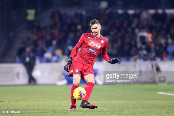 Alex Meret of Ssc Napoli in action during the Serie A match between Ssc Napoli and Juventus Fc Ssc Napoli wins 21 over Juventus Fc