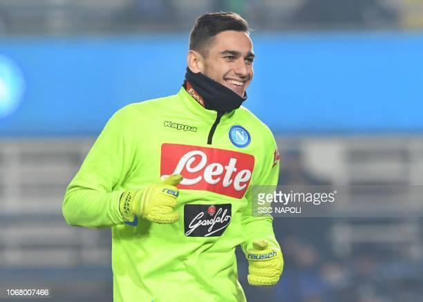 Alex Meretduring the Serie A match between Atalanta BC and SSC Napoli at Stadio Atleti Azzurri d'Italia on December 3 2018 in Bergamo Italy