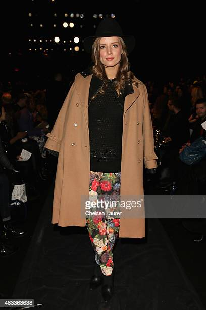 Alex Merrell attends the Mongol fashion show during Mercedes-Benz Fashion Week Fall 2015 at The Theatre at Lincoln Center on February 13, 2015 in New...