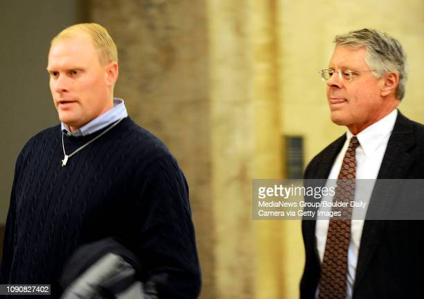 Alex Midyette walks to the courtroom with his lawyer XXXXXXXXX at the Denver County Court House in Denver, Colorado January 10, 2009. CAMERA/Mark...