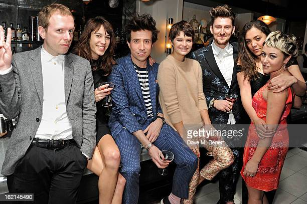 Alex Miller Alexa Chung Nick Grimshaw Pixie Geldof Henry Holland and Jaime Winstone attend as Nick Grimshaw hosts his first annual award season...