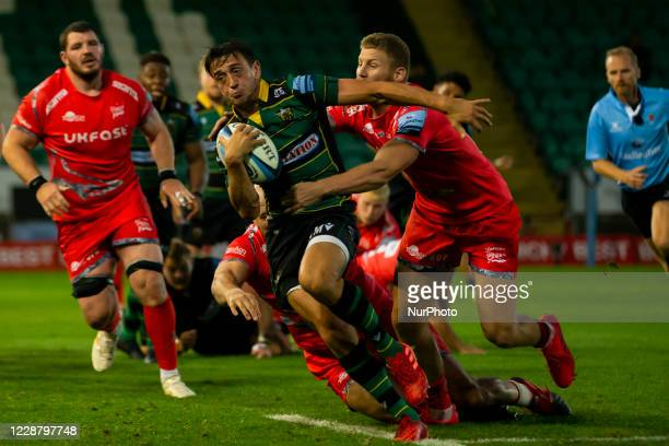 Alex Mitchell of Northampton Saints during the Gallagher Premiership match between Northampton Saints and Sale Sharks at Franklin's Gardens...