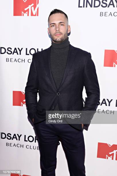 Alex Moffitt attends MTV's 'Lindsay Lohan's Beach Club' Premiere Party at Moxy Times Square on January 7 2019 in New York City