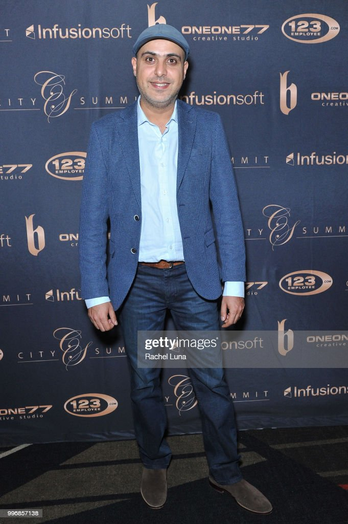 Alex Moj of Plug and Play Ventures attends City Summit: Wealth Mastery And Mindset Edition after-party at Allure Banquet & Catering on July 11, 2018 in Van Nuys, California.