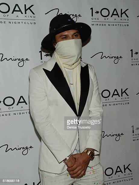 Alex Monopoly arrives at 1OAK Nightclub at the Mirage Hotel and Casino on April 1 2016 in Las Vegas Nevada