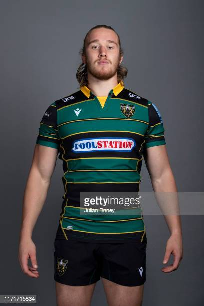 Alex Moon of Northampton Saints poses for a portrait during the Northampton Saints squad photocall for the 20192020 Gallagher Premiership Rugby...