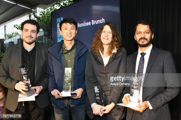 Alex Moratto Bing Liu Anne Rosellini and Shrihari Sathe attend the 2019 Film Independent Spirit Awards nominee brunch at BOA Steakhouse on January 5...