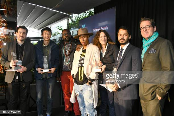 Alex Moratto Bing Liu Brian Tyree Henry Lena Waithe Anne Rosellini Shrihari Sathe and President of Film Independent Josh Welsh attend the 2019 Film...