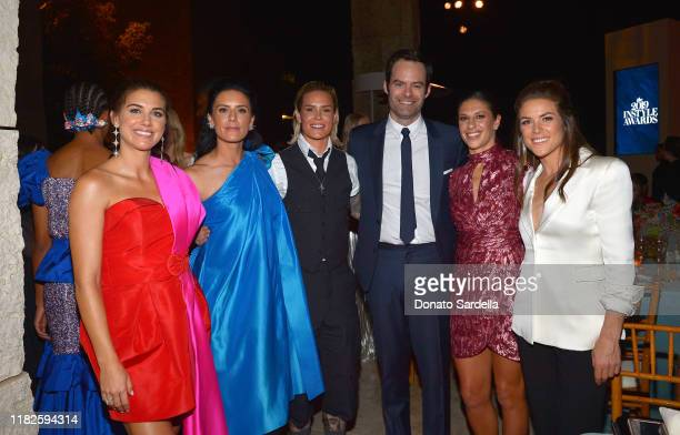 Alex Morgan Ali Krieger Ashlyn Harris Bill Hader Carli Lloyd and Kelley O'Hara attend the Fifth Annual InStyle Awards at The Getty Center on October...