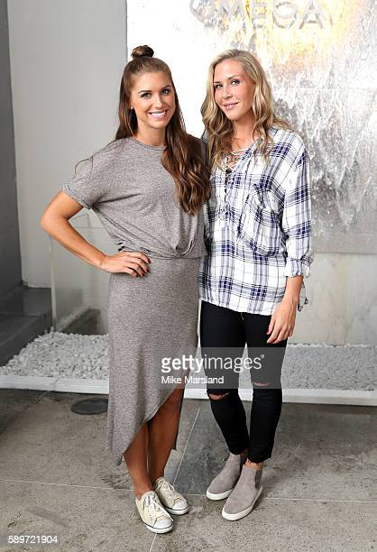 Alex Morgan and Allie Long pictured at OMEGA House Rio 2016 on August 14 2016 in Rio de Janeiro Brazil