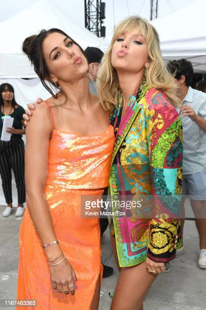 Alex Morgan and Taylor Swift attend FOX's Teen Choice Awards 2019 on August 11 2019 in Hermosa Beach California