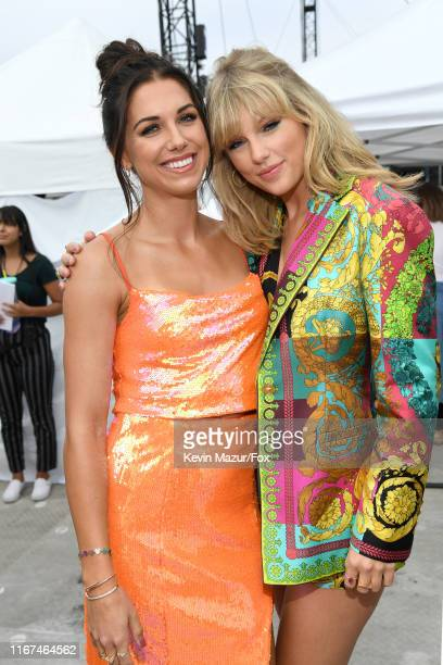 Alex Morgan and Taylor Swift attend FOX's Teen Choice Awards 2019 on August 11, 2019 in Hermosa Beach, California.