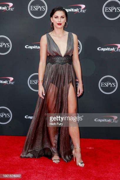 Alex Morgan attends the 2018 ESPYS at Microsoft Theater on July 18 2018 in Los Angeles California