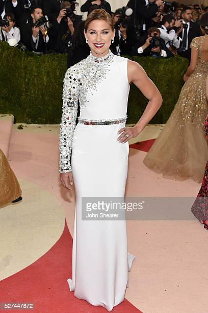 Alex Morgan attends the 'Manus x Machina Fashion In An Age Of Technology' Costume Institute Gala at Metropolitan Museum of Art on May 2 2016 in New...