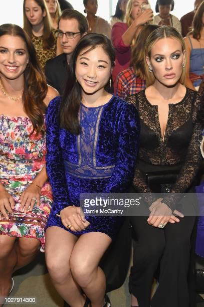 Alex Morgan Mirai Nagasu and Petra Murgarroyd attend the Tadashi Shoji front row during New York Fashion Week The Shows at Gallery I at Spring...