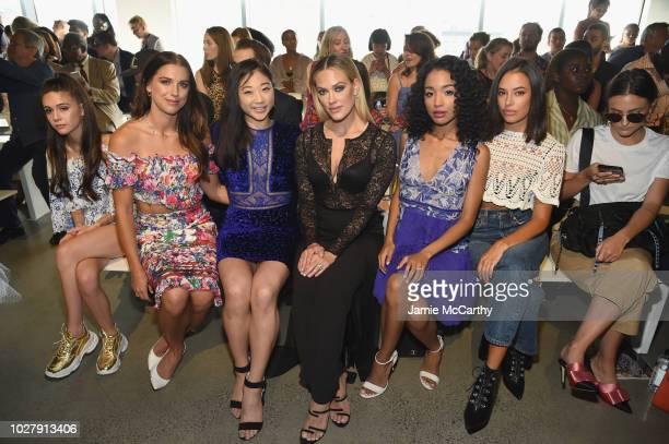 Alex Morgan Mirai Nagasu Petra Murgarroyd Erinn Westbrook and Chloe Bridges attend the Tadashi Shoji front row during New York Fashion Week The Shows...