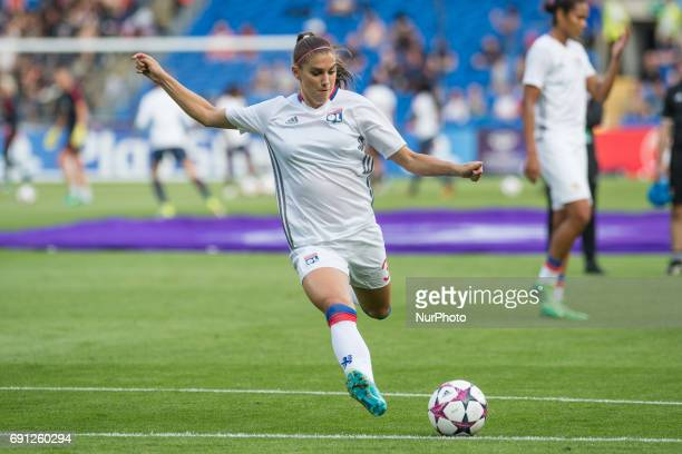 Alex Morgan of Olympique Lyon during the UEFA Women's Champions League Final between Lyon Women and Paris Saint Germain Women at the Cardiff City...