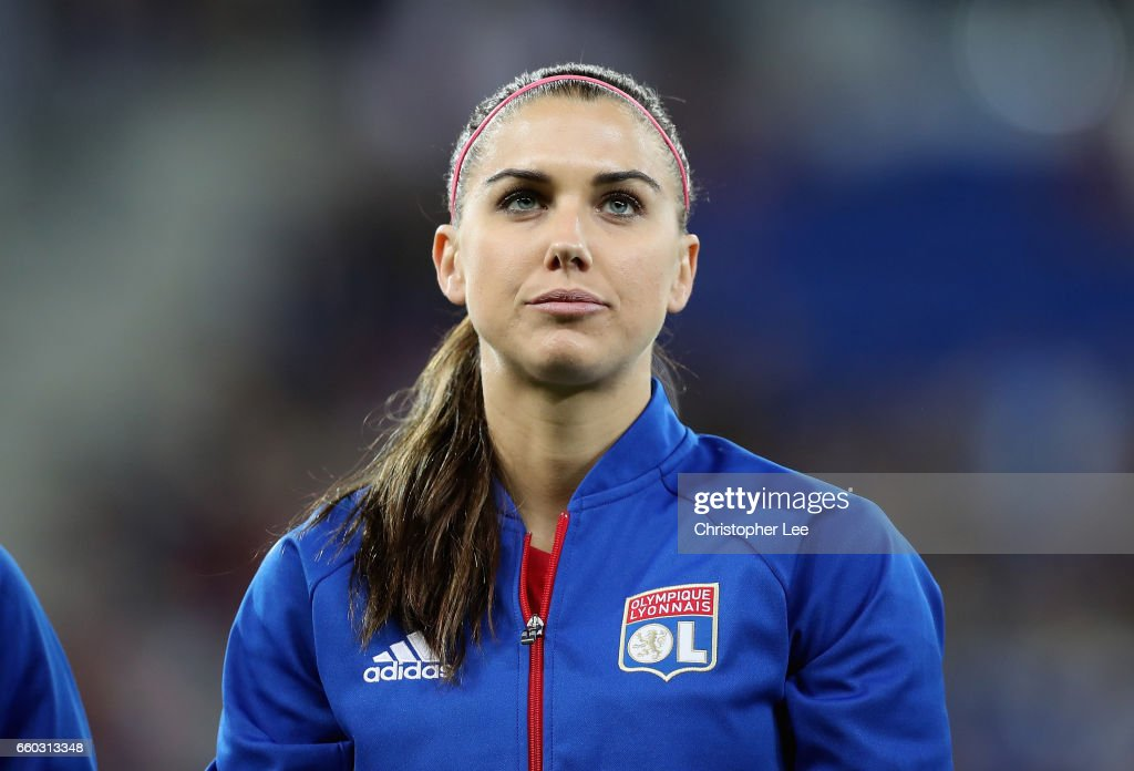f834bf768 Alex Morgan of Olympique Lyon during the Women s Champions League ...